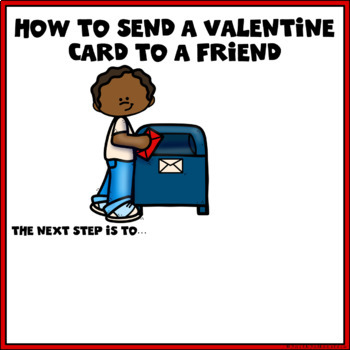How to Send a Valentine to a Friend Procedural Writing in Google Slides™