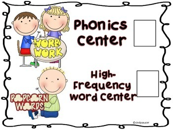 How to Set Up Literacy Centers, Instructions, Posters