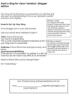 How to Set Up a Blog on Blogger