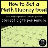 How to Set a Math Fluency Goal: Create a Goal for Correct