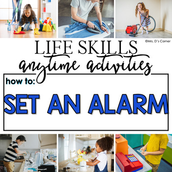 How to Set an Alarm Life Skill Anytime Activity | Life Skills Activities