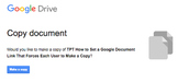 How to Set the Link to a Google Document to Force Others t