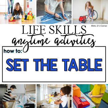 How to Set the Table Life Skill Anytime Activity | Life Skills Activities