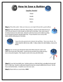 How to Sew a Button Handout