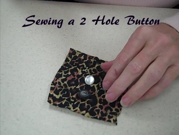 How to Sew a Two Hole Button
