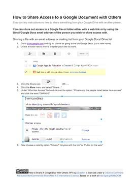 How to Share Out a Google Doc With Others