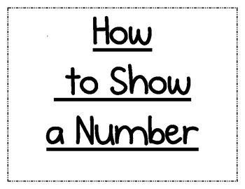 How to Show a Number (Poster)
