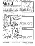 How to Sign AFRAID, Rain, Storm ASL & Free ASL Book