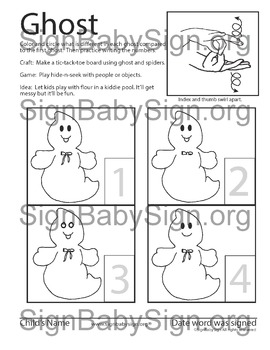How to Sign Ghost (Halloween)  ASL & more Free ASL