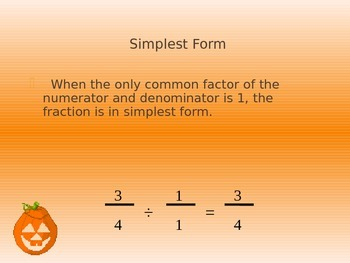 How to Simplify Fractions Activity Powerpoint