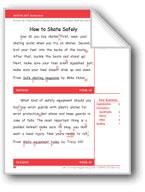 How to Skate Safely (Gr. 3/Week 18)