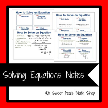 How to Solve Equations Mini Posters