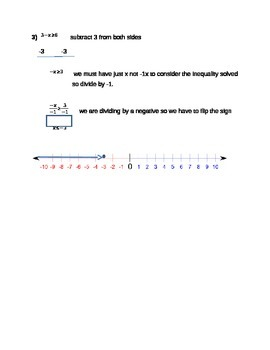How to Solve Inequalities Step by Step Notes