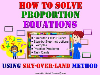 Proportion Equations: How To Solve - Sky-Over-Land Method