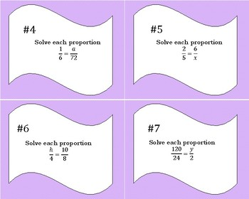 How to Solve Proportions Task Cards