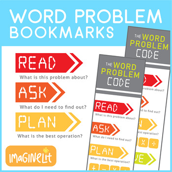 How to Solve Word Problems Bookmark