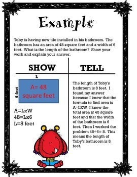 How to Solve Word Problems: The Show and Tell Method
