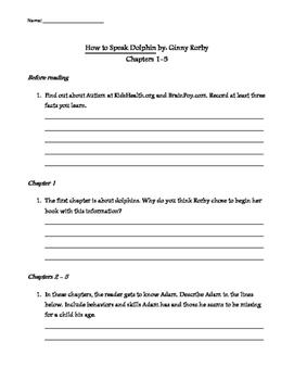 How to Speak Dolphin Literature Packet