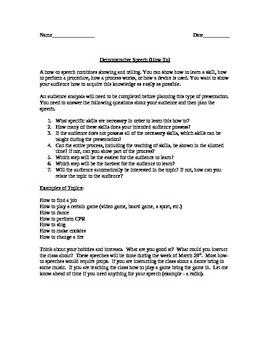 """""""How-to"""" Speech Assignment"""