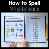 How to Spell Writing Folders : Student Charts