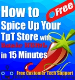How to Spice Up Your TpT Seller Store with Basic HTML in 1