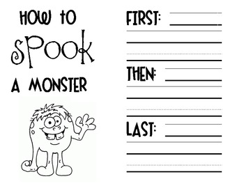 How to Spook A Monster - Creative Writing
