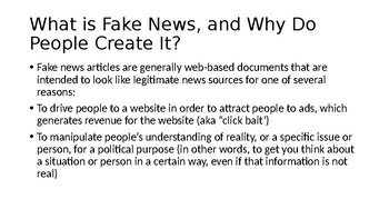How to Spot Fake News PowerPoint