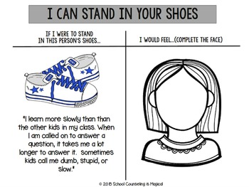 How to Stand in Your Shoes (Go Fish! Game and Worksheets)