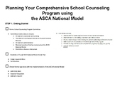 How to Start Your School Counseling Program using the ASCA
