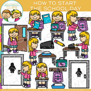 How to Start the School Day: Morning Routine Clip Art