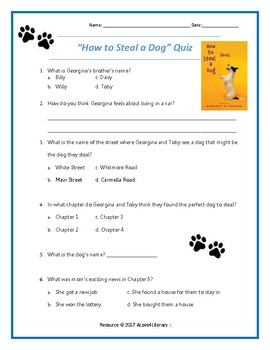How to Steal A Dog Quiz