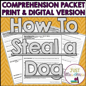 How to Steal a Dog Comprehension Packet