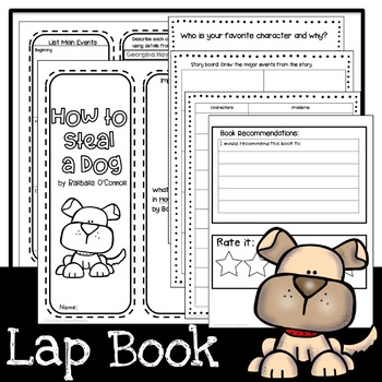 How to Steal a Dog Lap Book and STEM Challenges