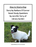 How to Steal a Dog Novel Study