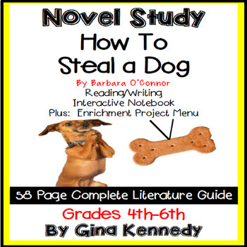 How to Steal a Dog Novel Study & Enrichment Project Menu