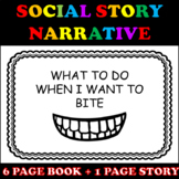 How to Stop Biting Social Story Narrative with Visuals (EDITABLE)