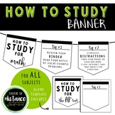 How to Study Banner