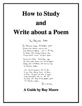 How to Study and Write about a Poem