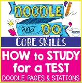 How to Study for a Test - Doodle Notes and Learning Stations Study Skills