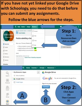 How to Submit Google Docs/Slides into Schoology