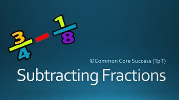 5th Grade: Subtracting Fractions