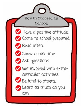 How to Succeed In School Poster