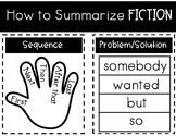 How to Summarize Fiction Poster {ESL}