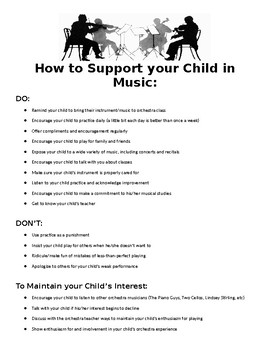 How to Support your Child in Music