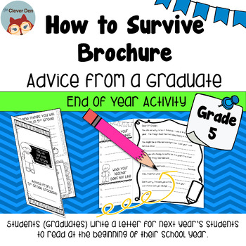 How to Survive Brochure - Advice for Next Year's Students - End of Year Activity