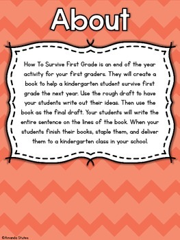 How to Survive First Grade Writing Activity