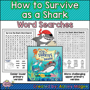 How to Survive as a Shark Word Searches - Upper and Lower Primary Versions