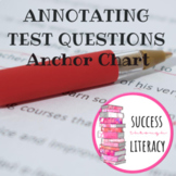 How to Annotate Test Questions Anchor Chart - can use for