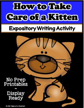How to Take Care of a Kitten ~ Writing Activity