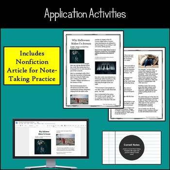 How to Take Notes Mini Unit: Cornell Slides Presentation, Application Activities